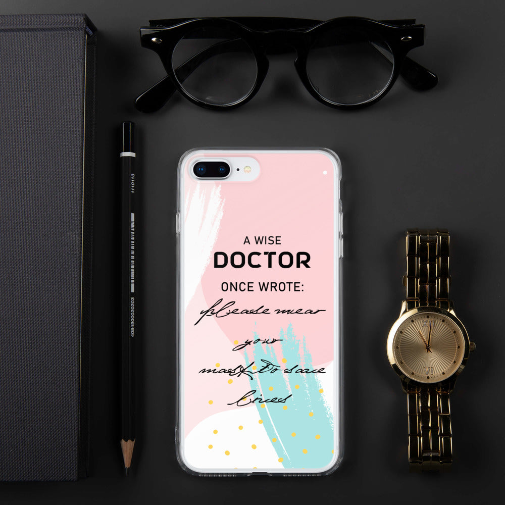 Funny Doctor Handwriting iPhone Case