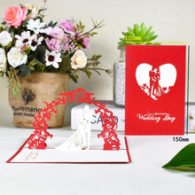 Load image into Gallery viewer, Romantic 3D Pop-Up Cards