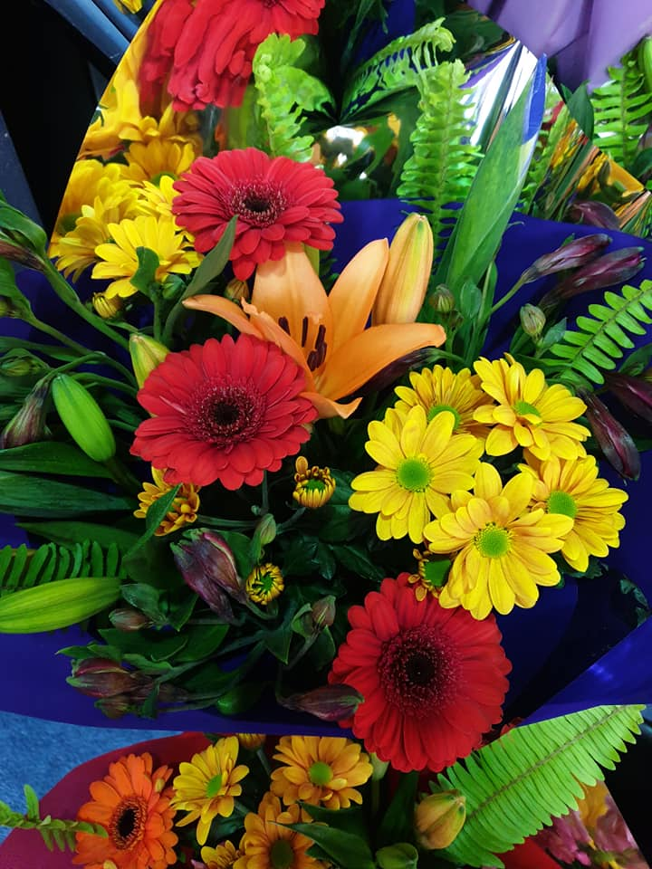 Bright mixed bouquet