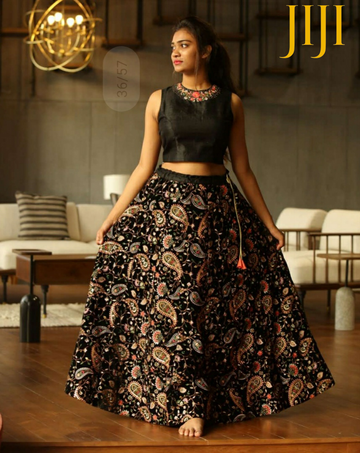 Black CUSTOM MADE LEHENGA with Heavy Hand Embroidery