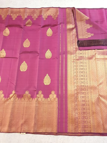 Magenta SHADE PURE KANCHIPURAM SILK