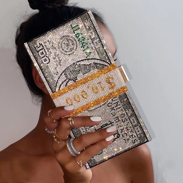 SPARKLE CASH MONEY BAG