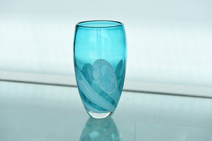 Medium Wide Neck Vase - Turquoise