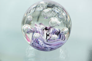 Paperweight Purple and White