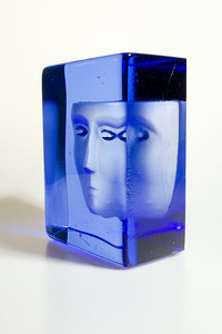 Azur Frost Block Sculpture