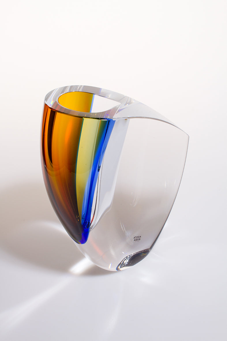 Mirage Vase Blue and Amber