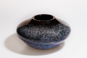 Small Squat Vase - Night Sky