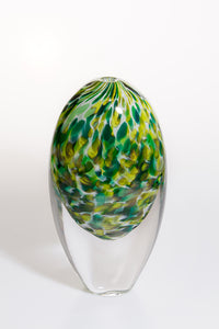 Medium Vase - Clear and Green