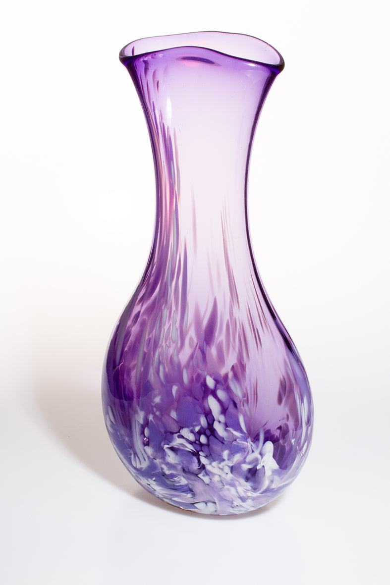 Large Neck Vase - Purple and Lilac