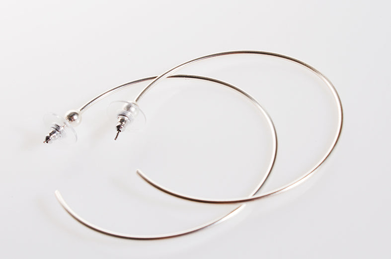 Earring Hoops Silver Plated