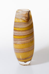 Tall Vase - Yellows and Browns