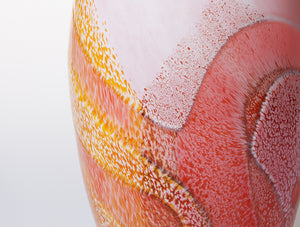 Medium Vase - Peach and Whites