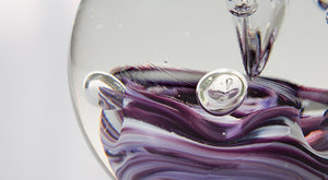 Paperweight - Purple and White