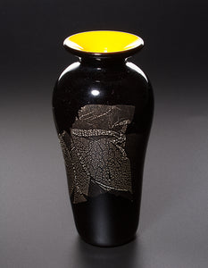 James Maskrey: Small Japanese Vase - Yellow & Black