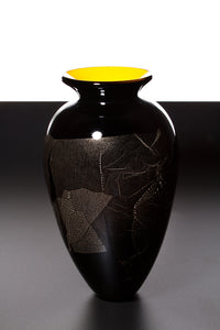 James Maskrey: Large Japanese Vase - Yellow & Black