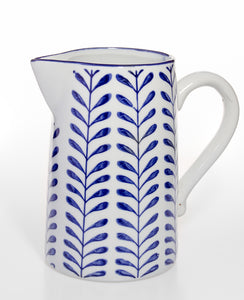 Blue Leaf Design Jug
