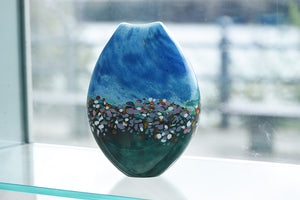 Medium Scenery Vase - Blue and Green