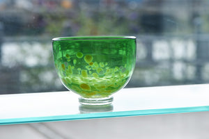 Medium Round Bowl - Green and Yellow