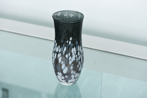 Medium Tall Vase - Black, White and Grey