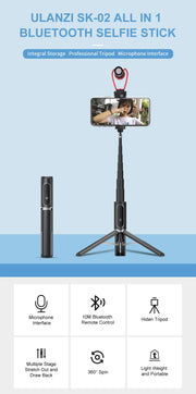 3 in 1 Wireless Bluetooth Tripod