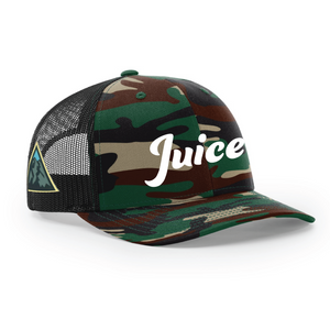 Military Camo Mesh Back Trucker Side Patch Hat