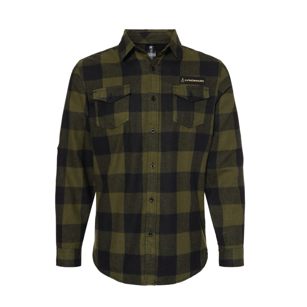 Lvndmark Flannel - NEW! Army Green/Black