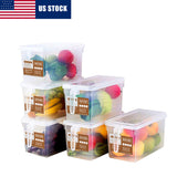 Plastic Storage Containers (Set of 6)