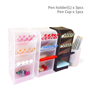 Desk Organizer SET-4B Pen Holder Cup Storage
