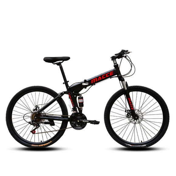 MACCE Folding Mountain 26inch Black Bicycle