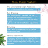 Sheer Shades- light Brown