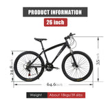 MACCE Mountain 26inch Black Bicycle