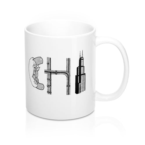 Chi Hot Dog 11 Oz Coffee Mug