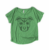 Aztec Pitbull Face Womens Shirt