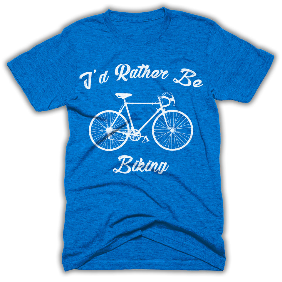 I'd Rather Be Biking Mens Shirt