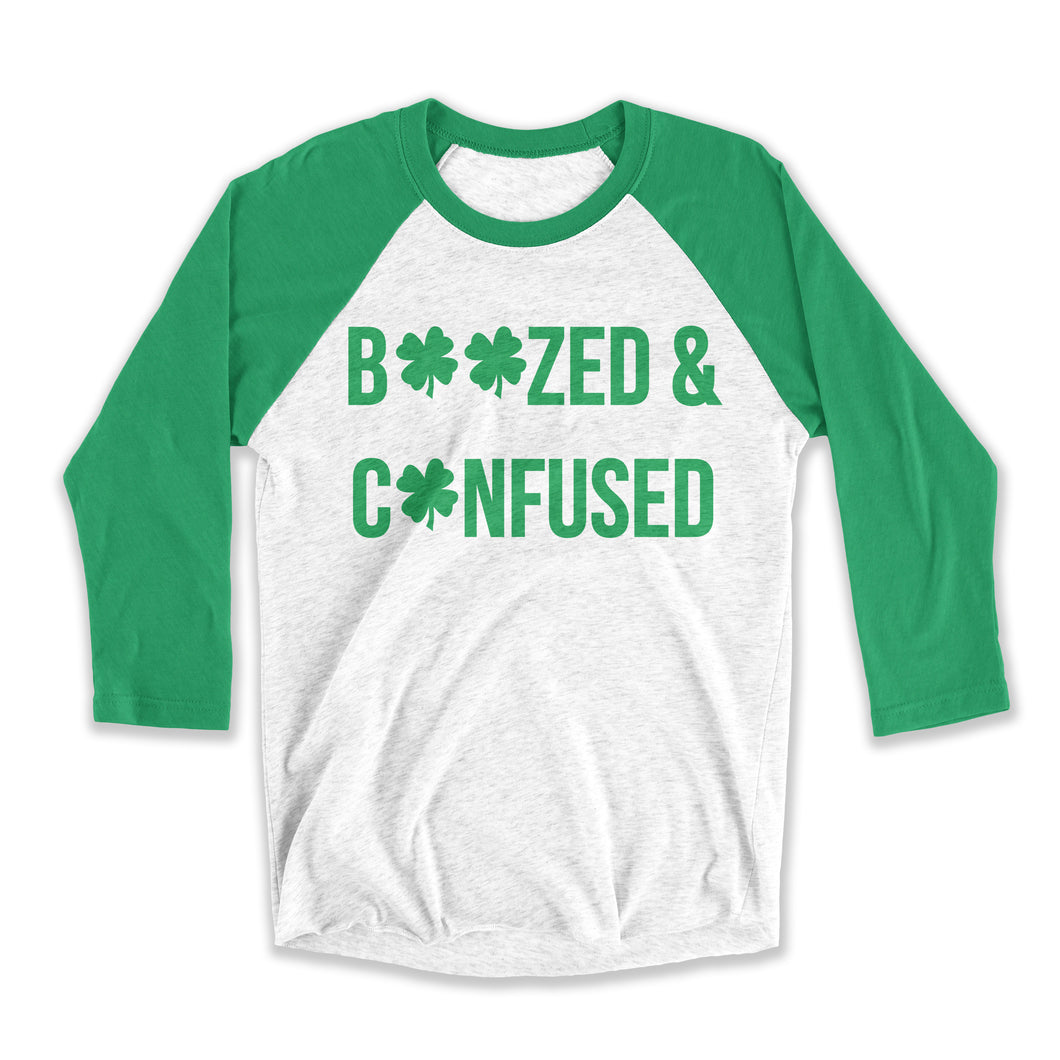 Boozed And Confused Unisex Raglan Tee