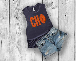CHI Football Womens Muscle Tank