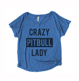 Crazy Pitbull Lady Womens Shirt
