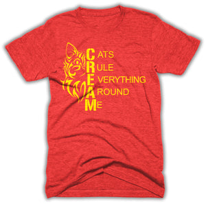 Cats Rule Everything Around Me Mens Shirt