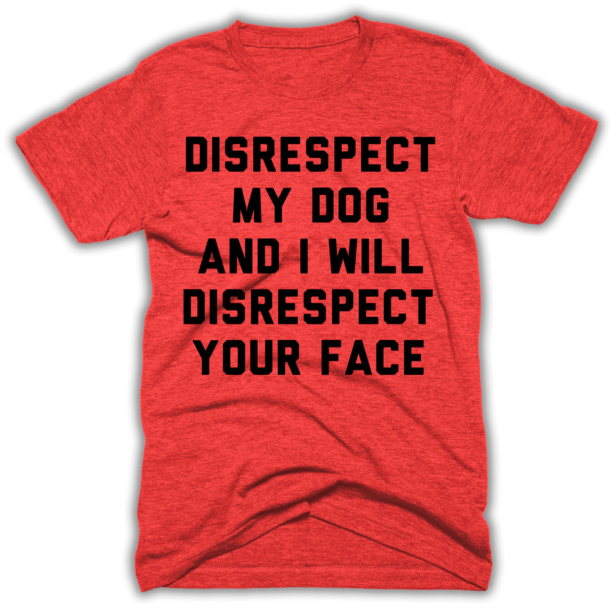 eca8542a Disrespect My Dog And I Will Disrespect Your Face Mens Shirt –  Basementshirts
