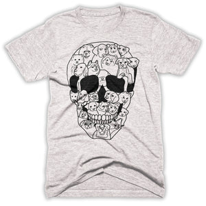Dogs On A Skull Mens Shirt