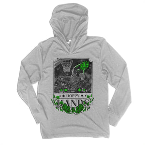 Hoppy Hands Unisex Long Sleeve Tri Blend Hoody