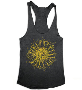 Sunflower Womens Racerback Tank Top