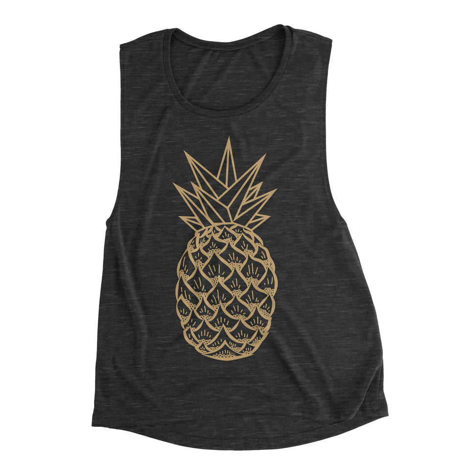 Pineapple Womens Muscle Tank