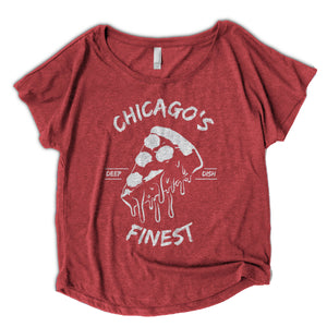 Women's Chicago Deep Dish Pizza Shirt