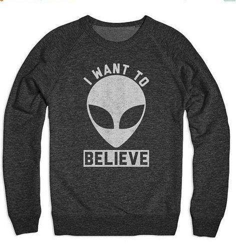 I want to Believe Crew Neck Sweater