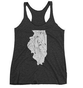 Illinois Art Womens Racerback Tank Top