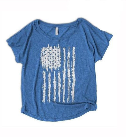 womens American flag shirt