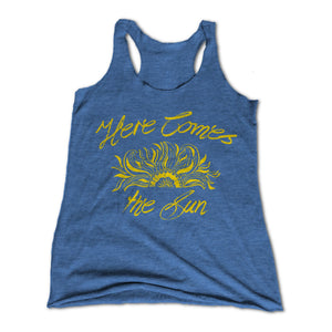 Here Comes The Sun Womens Racerback Tank