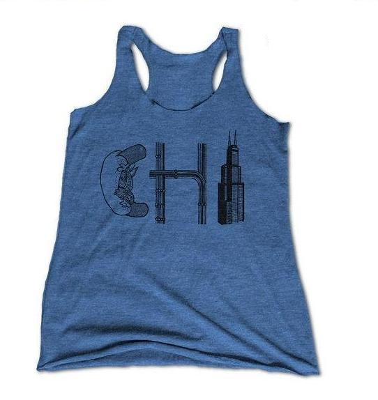 womens chicago tank top