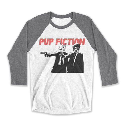 Pup Fiction Unisex Raglan Tee